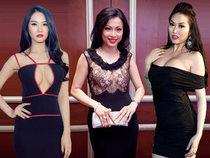 10 bộ váy khoe ngực quá đà của sao Việt