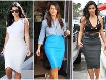 12 cách mix váy bút chì của Kim Kardashian