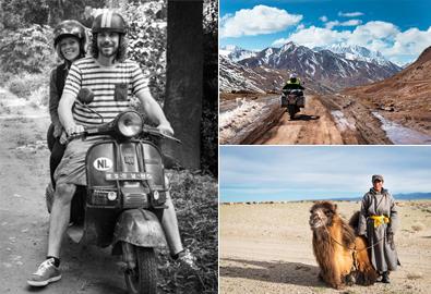 Đôi bạn thân bỏ việc du lịch vòng quanh thế giới