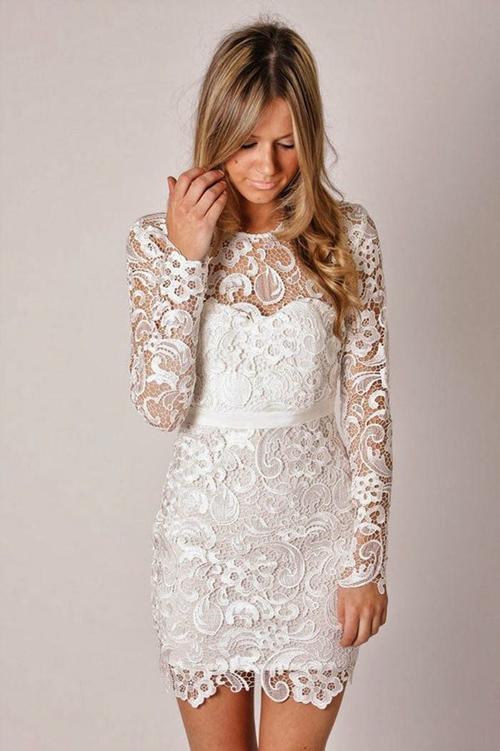 12 mẫu váy cưới ngắn điệu đà, đáng yêu