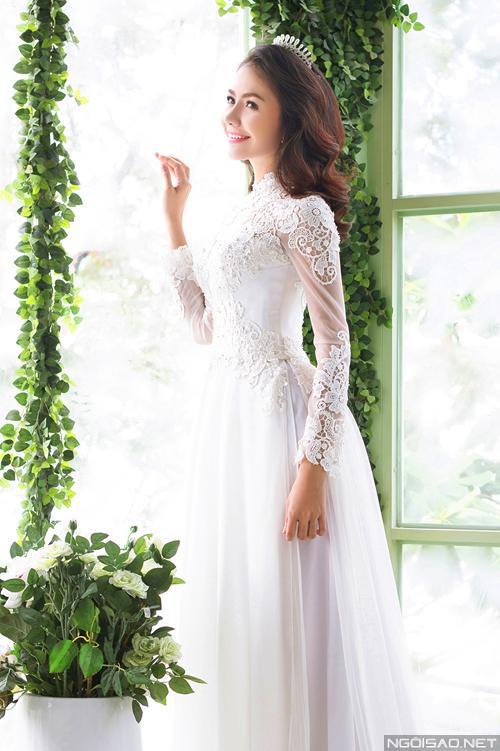 Chọn áo dài cưới lộng lẫy cùng Ái Châu