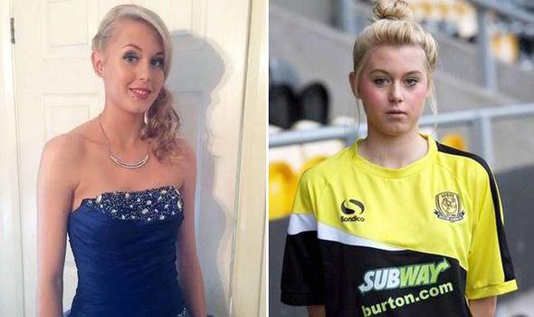 Lydia gợi cảm khi đi chơi và xinh tươi trong màu áo Burton Albion.