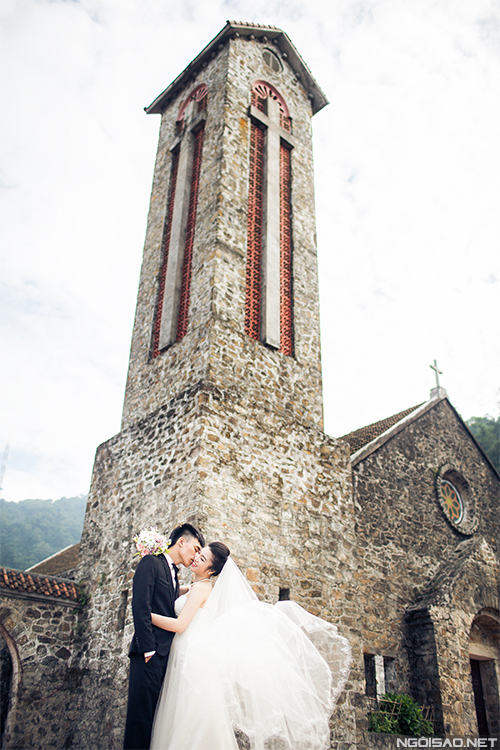 Uyên ương chụp ảnh cưới tình tứ ở Tam Đảo