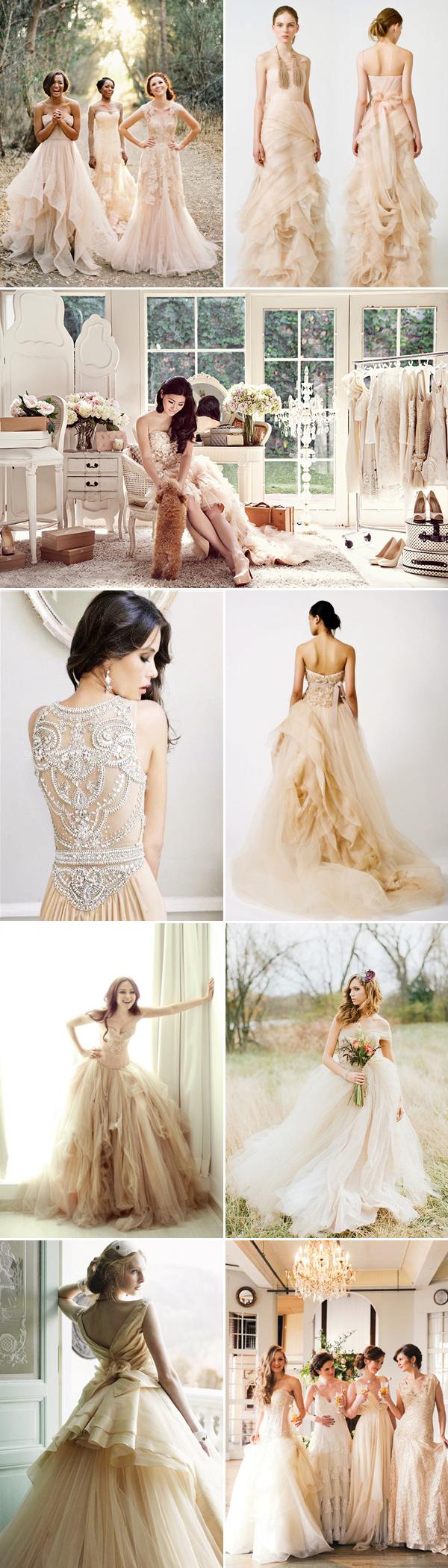 2 kiểu váy cưới màu sắc tinh tế, sang trọng