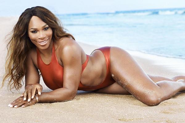 Serena từng tự ti vì cơ thể đồ sộ nhưng giờ thoải mái khoe đường cong bốc lửa.