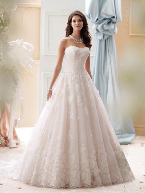 Váy cưới sang trọng với các gam màu trẻ trung