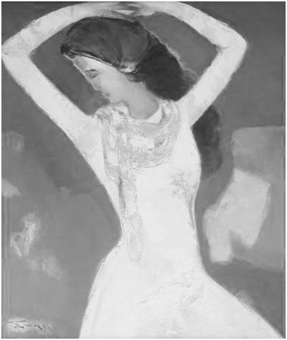 Những tác phẩm họa sĩ phác họa hình ảnh vợ - bà Ngọc Thúy.