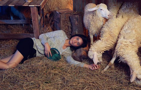 Kim Dung không biểu hiện được sự cố gắng và khiến ban giảm khảo thất vọng hoàn toàn về những gì cô thể hiện trong buổi chụp ảnh với cừu.