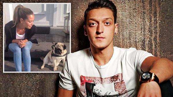 Đang trong quá trình hồi phục chấn thương, Ozil vui vẻ nhận trông cún cưng