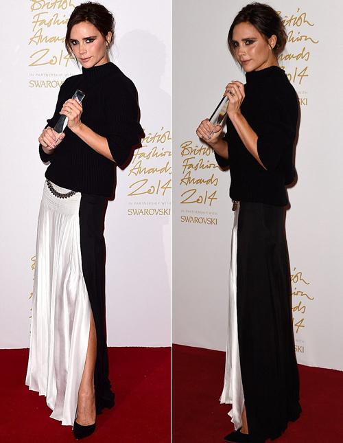 Trong lễ trao giải, bà Becks được vinh danh với giải thưởng Thương hiệu của năm.