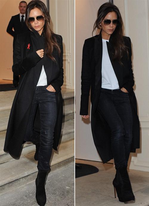 Chỉ vài giờ trước khi đi dự British Fashion Awards, Vic có mặt tại cửa hàng