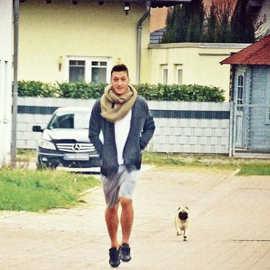 Ozil và cún cưng của Mandy