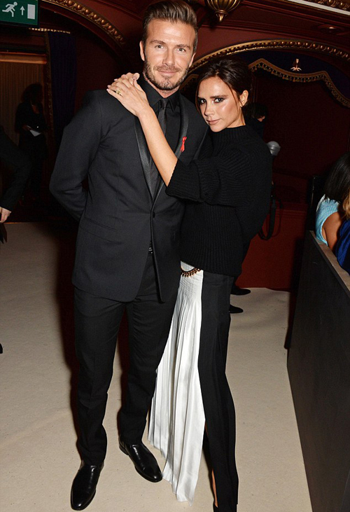 Vợ chồng Becks quấn quýt tại Britis Fashion Awards.
