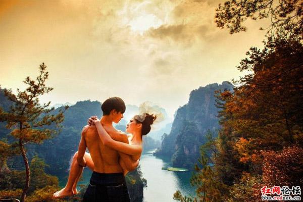 Bộ ảnh cưới nude của cặp đôi hâm mộ film Avatar gây xôn xao