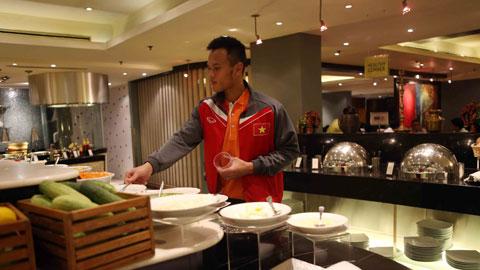 hủ môn Thanh Bình rất thích các món ăn cay và tại đây anh đã gặp rất nhiều món khoái khẩu