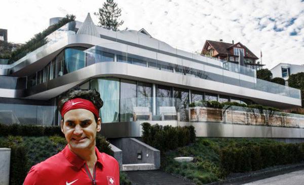 Sau nhiều tháng thi công, biệt thự trị giá 9,5 của Federer ở vùng Wollerau, Thụy Sỹ vừa hoàn thành.