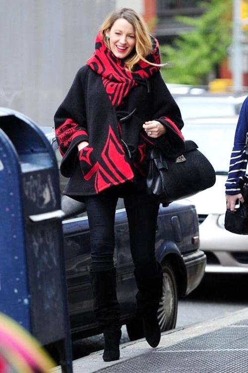 Gợi ý style thời trang bầu vô cùng quyến rũ của Blake Lively 7