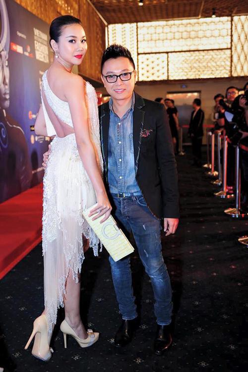 Siêu mẫu Thanh Hằng và nhà thiết kế Công Trí.
