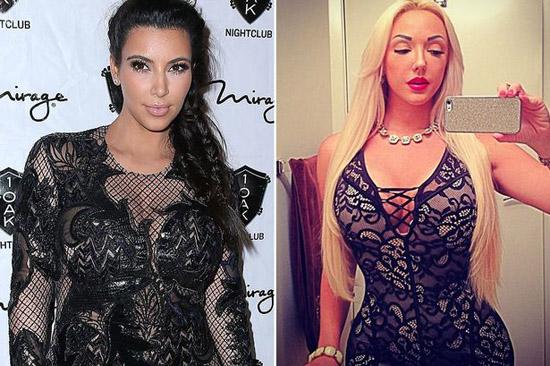 """""""Con gái tôi còn được gọi đùa là Kim Kardashian phiên bản tóc vàng. Nhưng chúng tôi không cố gắng để bắt chước ai cả, chúng tôi chỉ là chính bản thân mình mà thôi"""", bà Carmen khẳng định."""