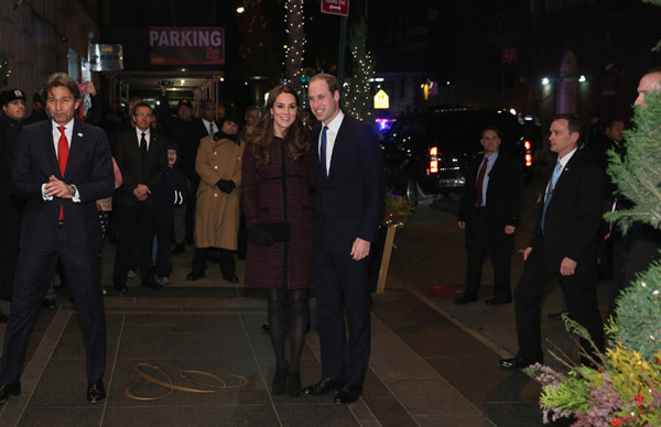 William and Kate posed outside the legendary Carlyle Hotel, where William's mother Princess Diana stayed when she visited the city. The classic hotel found in the heart of Manhattan has hosted celebrities including Victoria Beckham, Steve McQueen and Marilyn Monroe over the years.