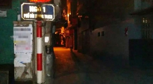 [Caption]Ngõ 1 phố Bùi Xương Trạch, nơi xảy ra vụ nổ súng trong đêm
