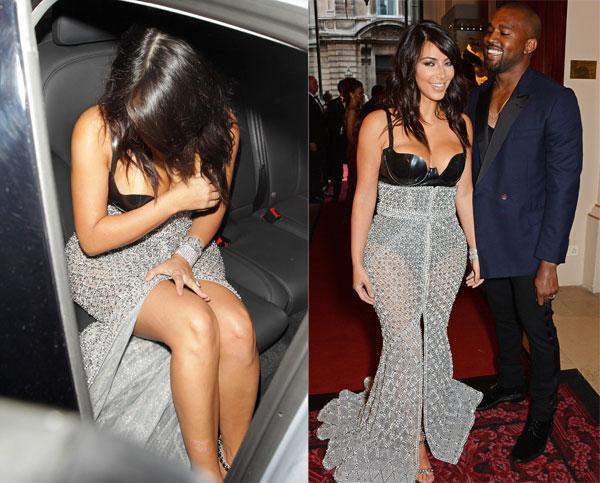 Kim Kardashian nhiều lần gặp sự cố vì mặc sexy