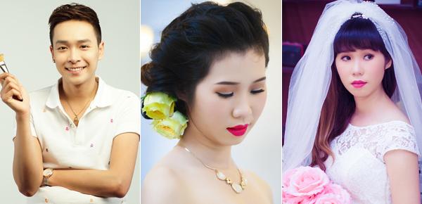 Trang điểm cô dâu khắc phục mắt một mí