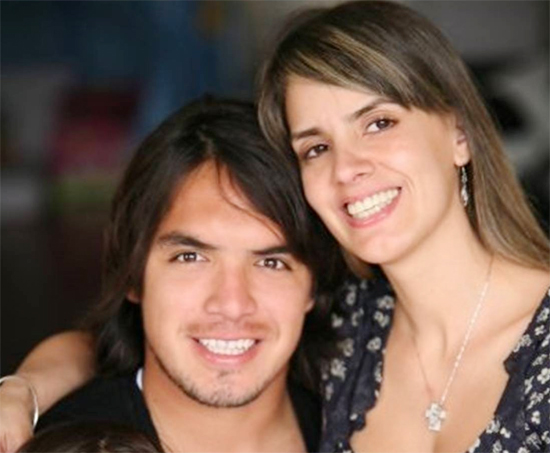 Juan Vargas và bạn gái lâu năm Blanca Rodriguez.