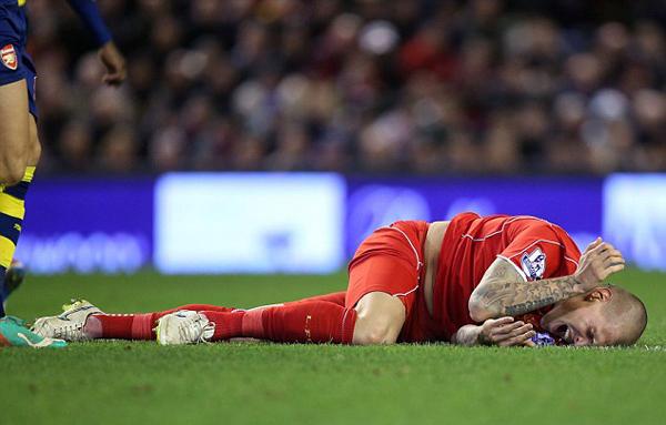 Sao Liverpool đau đớn