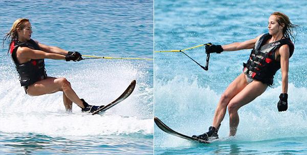 Michelle trổ tài lướt sóng