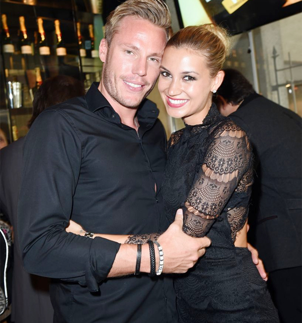 Christian Lell và Melanie Rickinger khi còn mặn nồng.