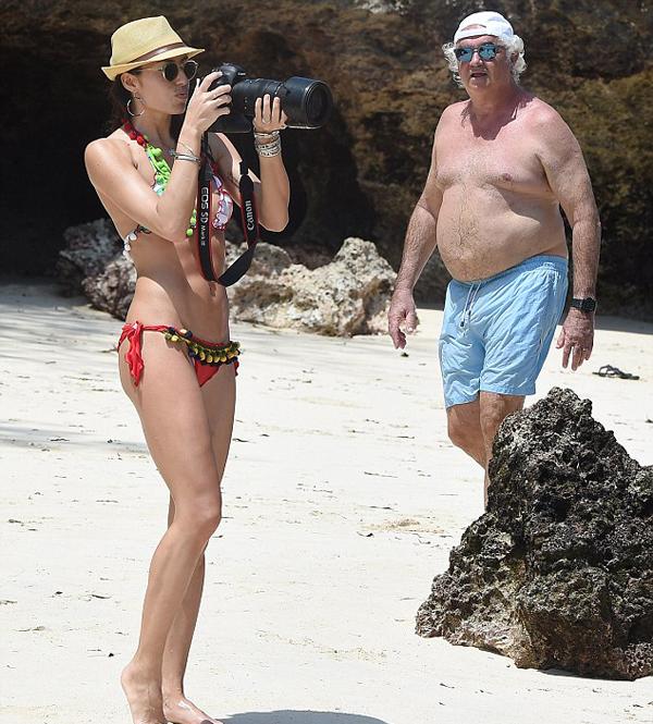 Ông trùm Flavio Briatore còn có một cô con gái với siêu mẫu Heidi Klum nhưng ông không thừa nhận và cũng không quan tâm gì tới cô bé.