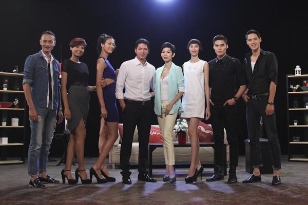 Bình Minh, Xuân Lan cùng top 6 của Vietnam's Next Top Model 2014.