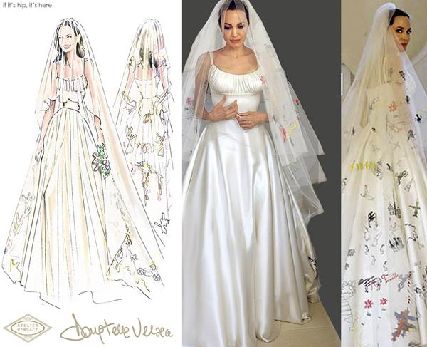 10 mẫu váy cưới nổi tiếng nhờ Angelina Jolie