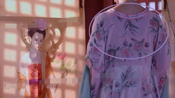 Vì áo của nhân vật quá mỏng làm lộ ra việc cô nàng mặc áo lót màu hồng.
