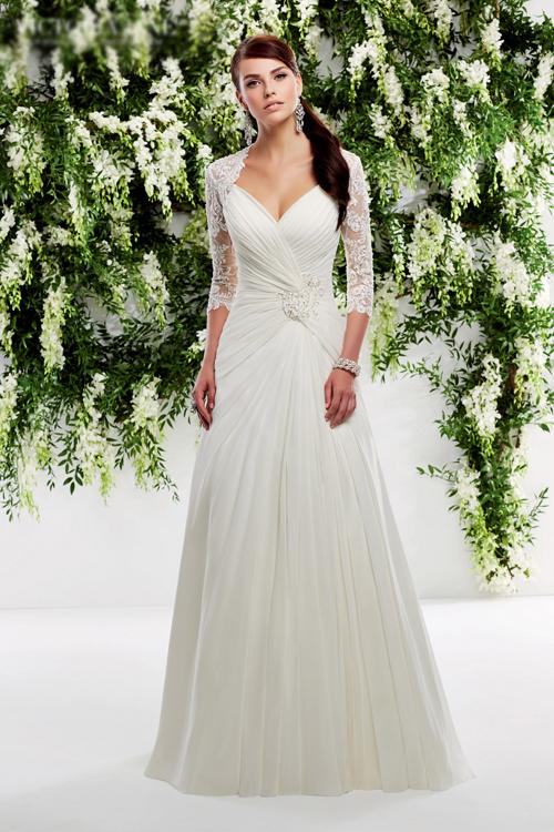 Váy cưới dáng chữ A phù hợp với mọi cô dâu