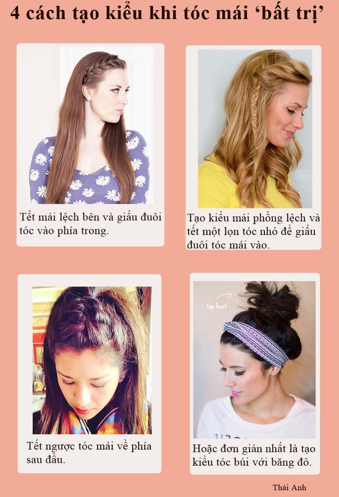 Duyên dáng với 4 kiểu tết tóc mái xinh xắn