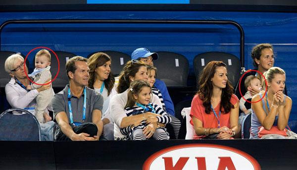 Cả nhà tay vợt số hai thế giới đang có mặt tại Australia để ủng hộ anh trong giải Grand Slam đầu tiên của năm 2015. Trong một sự kiện trước ngày khai mạc Australia mở rộng, bà xã Mirka đưa các bé Charlene Riva, Myla Rose, Leo và Lenny tới cổ vũ.