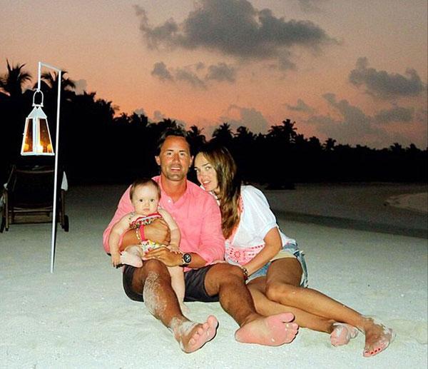 Vợ chồng Tamara trong kỳ nghỉ tại Dubai vừa qua.
