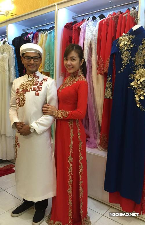 Hé lộ hai chiếc áo dài cưới của Á hậu Ái Châu