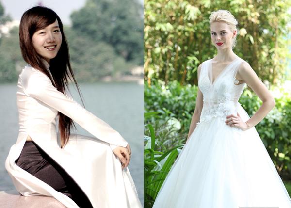 Chọn váy cho tiệc cưới trong nhà và ngoài trời