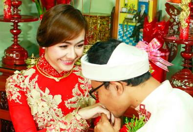 Lễ rước dâu tình cảm của Huỳnh Đông - Ái Châu