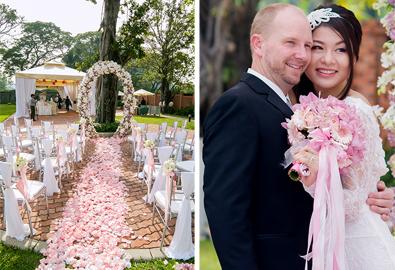 Đám cưới ngoài trời ở TP HCM đậm nét phương Tây