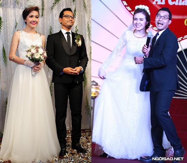Váy cưới đơn giản mà đẹp của sao Việt