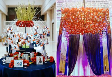 Cách thiết kế đám cưới màu đen và đỏ ở Sài Gòn