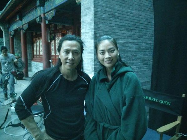Cô khoe bức ảnh chụp với ngôi sao võ thuật Chung Tử Đơn, người đảm nhận vai nam chính trong dự án bom tấn lần này.