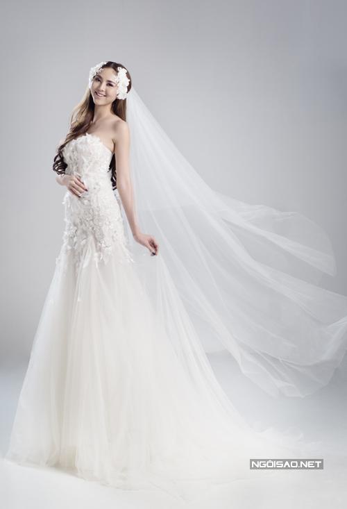 Hai mẫu váy cưới 3D độc đáo cho cô dâu Việt