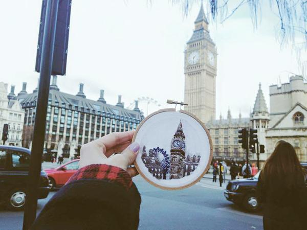 Tháp đồng hồ Big Ben, London, Anh.