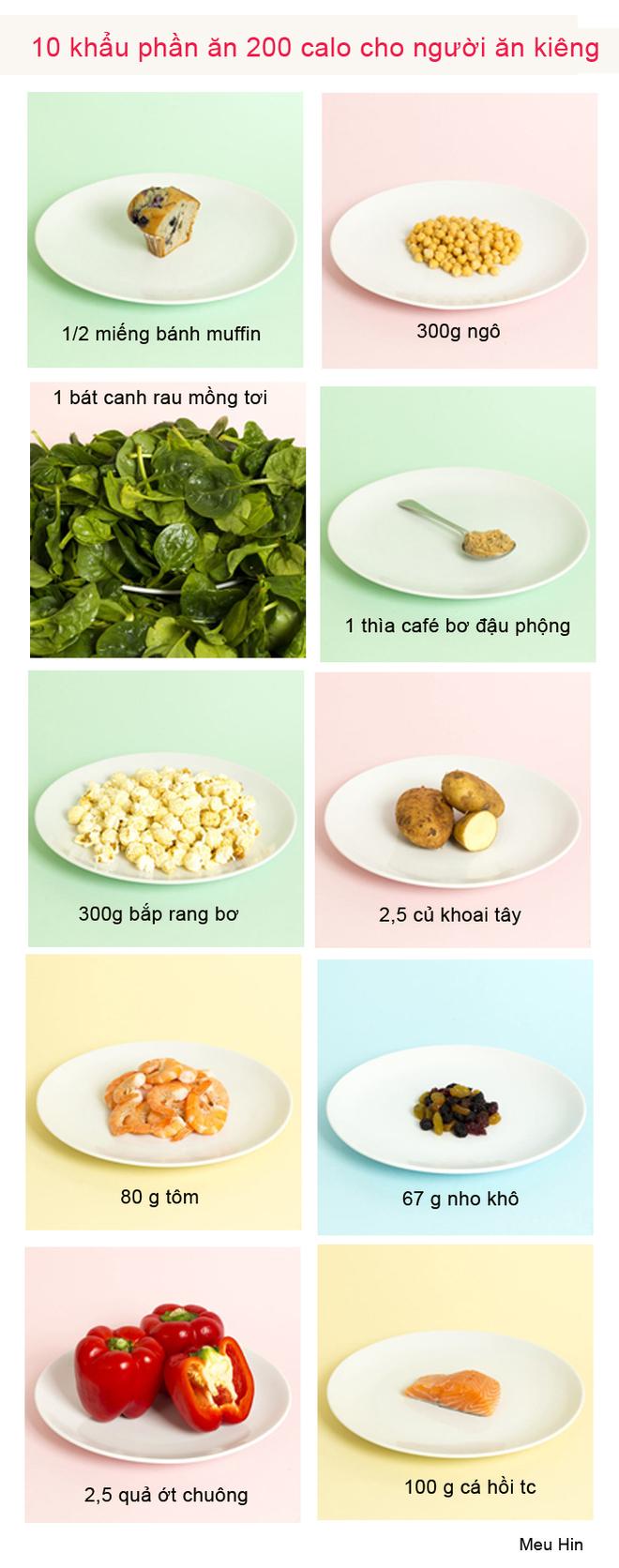 Tham khảo khẩu phần ăn 200 calo cho người ăn kiêng cho ngày tết