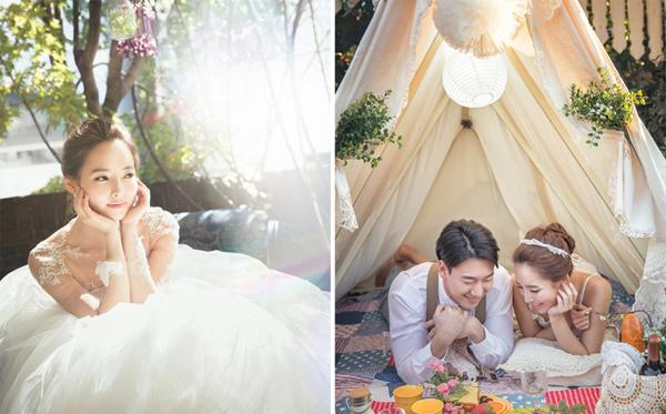 Những bức ảnh cưới Hàn Quốc đẹp trong veo